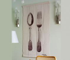 /Product inspiration/ /Category: food+cook / /material : fabric/  Kitchen Wall Hang via uncovet.com