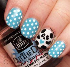 The Little Canvas: Panda Nail Art