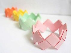 pulseira origami
