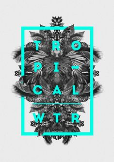 Tropical-Winter-by-Ricardo-Garcia graphic designs with neon colors