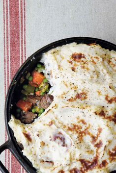 This recipe, from Paul Kelly, was inspired by a dish served at an English style pub. Traditionally, ground beef is the main ingredient of shepherd's pie, but tender pot roast makes this irresistible.