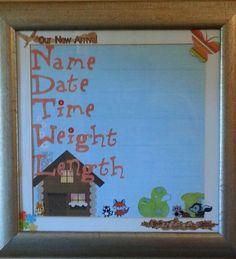DIY Birth Record made by Gretchen Emch on 01/21/2013 made using my Making Memories SLICE die cut machine.