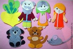 Купить Игрушки из фетра - игрушка, фетр, развивающая, фланелеграф, театральная кукла, фетр, бусины