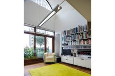 On the market: Apartment in Frobisher Crescent on the Chamberlin, Powell & Bon-designed Barbican Estate, London - WowHaus Barrel Vault Ceiling, One Bedroom Flat, Barbican, Open Plan Living, London, Architecture, Interior, House, Modernism