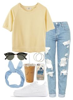 """Untitled #536"" by valerienwashington ❤ liked on Polyvore featuring NIKE, Topshop, Hush, Casetify and Ray-Ban"