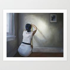 Measuring, Art Print by Helena Hsieh