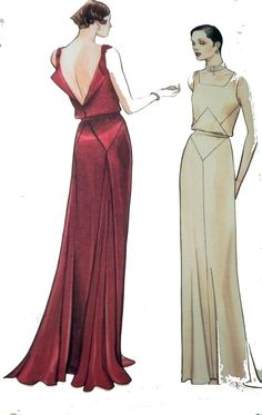Vogue 2241 1931 Reproduction Gown Pattern by retroactivefuture, $35.00