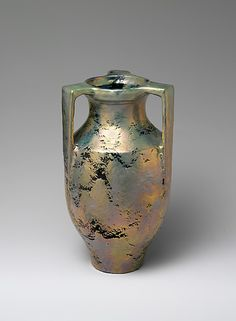 Vase, Mary Chase Perry, Pewabic Pottery, 1917, Detroit, earthenware.
