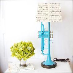 Turquoise Trumpet Lamp