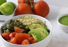 Cilantro Avocado Quinoa Bowl with kale tomato lime. #health #healthy #recipe #food #vegan #lunch #dinner #easy #simple #vegetable #vegetarian