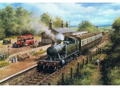 Steam Engine Print Country Connection by Don Breckon Uk Rail, Steam Art, Railway Posters, Train Posters, Old Train Station, Steam Railway, Train Art, Train Pictures, Steam Engine