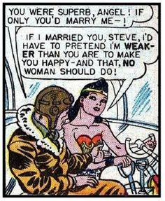 $4.95 - Wonder Woman 14 - 8 X 10 Tee Shirt Iron On Transfer Pretend I'M Weaker #ebay #Home & Garden