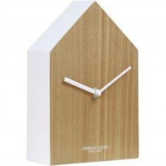 HUS Wall Clock Wood 13cm