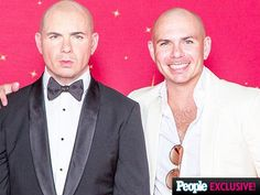 """Pitbull meets his Madame Tussauds wax figure: """"It has my Cuban booty!"""" http://peoplem.ag/vCAmt4Y"""