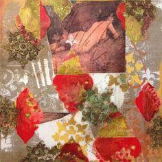 Harem Scarem, 2013 Darlene Olivia McElroy Mixed Media Unique Work Size : 12 x 12 x in. Paintings I Love, Mixed Media Canvas, Texture Painting, Natural Linen, All Art, Impressionist, Original Art, Fine Art, The Originals