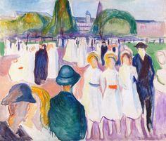 Edvard Munch - Promenade in Spring, 1917