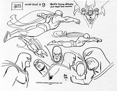 Space Ghost Model Sheet #9 - Flying