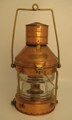Antique Copper Anchor Lamp