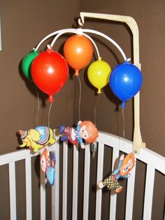 SALE.   Vintage Raggedy Ann and Andy Crib Mobile