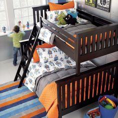Boys room color scheme-grey,blue,orange for Drew