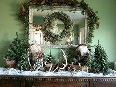 Yule decorations. I've been trying to find a foresty animal set up. So far this is the closest I've come across!
