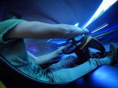 GoPro gokart, fast, lightpaint