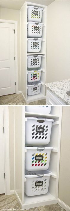 Bigger Laundry Room Or Bigger Closet Laundry room organization Small laundry room ideas Laundry room signs Laundry room makeover Farmhouse laundry room Diy laundry room ideas Window Front Loaders Water Heater Laundry Basket Organization, Organisation Hacks, Laundry Room Storage, Laundry Room Design, Home Organization, Storage Spaces, Laundry Rooms, Basement Laundry, Laundry Baskets