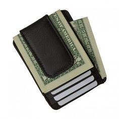 Men Genuine Leather Bi-Fold Wallet - 4 Colors  http://mobstub.com/d/Luxuries-Genuine-Leather-Magnetic-Money-Clip-Wallet