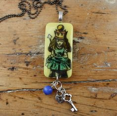 Alice In Wonderland Pendant, Necklace by GingersAlteredBits on Etsy