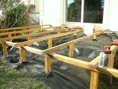 Faire une structure en bois pour terrasse en bois