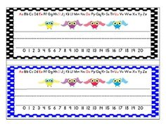Polka Dot Owl Name Plates for desks, cubbies, writing centers or anything else!