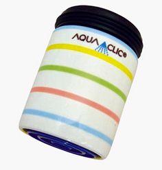 Spart bis zu 50% Wasser und Energie am Wasserhahn: AquaClic Sorbet aus Messing.