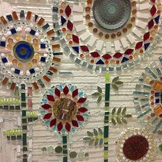 Mosaic from Fire When Ready studio. Mosaic Garden Art, Mosaic Flower Pots, Mosaic Pots, Mosaic Wall Art, Mosaic Diy, Mosaic Glass, Mosaic Tiles, Glass Art, Fused Glass