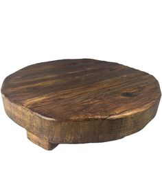 Reclaimed Wood Trivet and Serving Board, Medium -- Our Reclaimed Wood Round Trivet is a versatile classic you'll use again and again. Each trivet is hand cut and made of timber from the late 1800s, using Old World tools and techniques. Each piece is hand finished and accented with a galvanized metal band. It's character and charm bears the imperfections of the wood's original context.