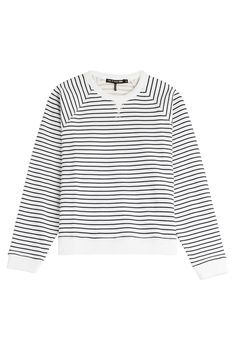 Rag & Bone Striped Cotton Sweatshirt in blue and white // perfect style for casual chic