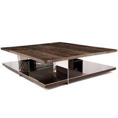 Contemporary coffee table / walnut / bronze / stainless steel - GRID by Barlas Baylar - Hudson Furniture Coffee Table To Dining Table, Walnut Coffee Table, A Table, Hudson Furniture, Table Furniture, Furniture Design, Furniture Nyc, Low Tables, Small Tables
