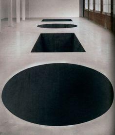 Michael Heizer: North, East, South, West, 1967/2002.  Installation view, Dia:Beacon, Riggio Galleries. Photo: Tom Vinetz.