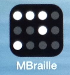 MBraille is useful app for blind people to be able to write on mobile apps like BlindSquare and Foursquare with brailles. - mBraille on hyödyllinen sovellus, jolla sokea voi kirjoittaa muihin mobiilisovelluksia, kuten BlindSquareen ja Foursquareen pistekirjoituksella.