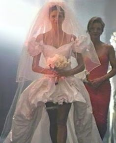 If I ever get married, this will be my wedding dress.  Stephanie Seymour in Guns N' Roses November rain's music video.