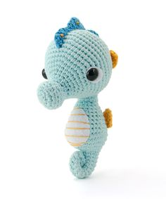 "amigurumipatterns: ""Sweet Seahorse design by A Morning Cup of Jo Creations. The pattern is part of our new book Zoomigurumi 4! """