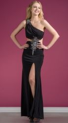 his sexy cutouts evening dress is all about the wow factor!