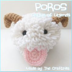 Poros from League of Legends amigurumi. See more about it at facebook.com/thecraftzilla