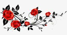 Rosas rojas, Creative, Rojo, Rose PNG y Vector