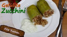 Gefüllte Zucchini - Rezept von Lila Kuchen Ethnic Recipes, Food, Stuffed Zucchini Recipes, Lactose Free Recipes, Purple Cakes, Home Made, Easy Meals, Meal, Eten