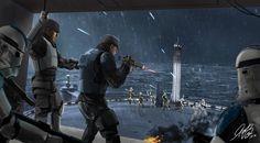 Star Wars Battle On Kamino Commission by Entar0178.deviantart.com on @DeviantArt