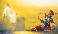 Los soldados se asustan cuando un ángel les enseña la tumba de Jesús vacía
