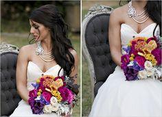large wedding necklace