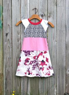 CHILDRENS CLOTHING  girls dress Girls Clothes Upcycled dress for girl 7-8yr Children Modern Indie Kids Back to School Fashion