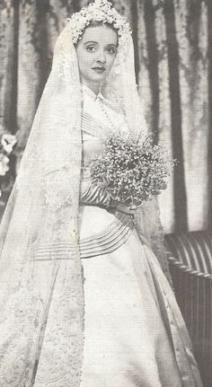 Betty Davis as a bride ..