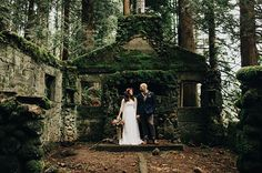 25 Jaw Dropping Spots That Will Make You Want to Elope | dilapidated building in the pacific northwest